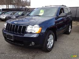 jeep dark blue 2009 jeep grand cherokee laredo 4x4 in modern blue pearl 529205