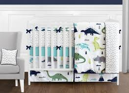 Crib Bedding Green Dinosaur Blue And Green Crib Bedding Collection 9 Crib Set