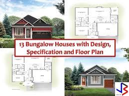 bungalow plans 13 modern design of bungalow home blueprints and floor floor