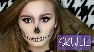 Halloween Skull Makeup Tutorial Easy Purple Skull Halloween Makeup Tutorial 2016 Youtube