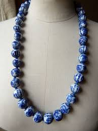 large beads necklace images A vintage hand knotted chinese porcelain large bead necklace in jpg