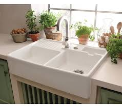 R Villeroy  Boch Butler  Ceramic Belfast Double Sink - Belfast kitchen sink
