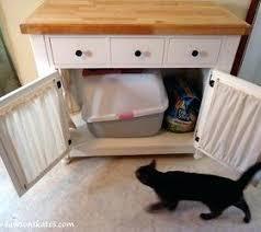 box kitchen cabinets kitty litter cabinet hides ugly litter box diy cat litter box