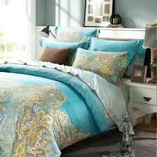 yellow paisley duvet cover boho paisley print luxury duvet quilt