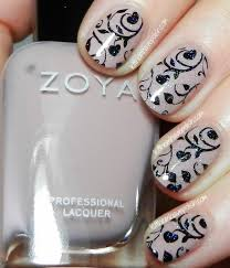 let them have polish zoya rue stamped nail art look