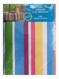 Patio Party Vinyl Tablecloth by Amazon Com Summer Fun Flannel Back Vinyl Umbrella Tablecloths