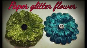 easy way to make glitter paper flower home decor paper craft by