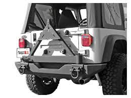 2000 jeep bumpers rugged ridge wrangler tire carrier for xhd rear bumper 11546 42