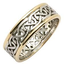 mens celtic wedding rings wedding ring mens celtic knot narrow pierced sheelin