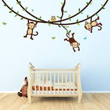 Nursery Monkey Wall Decals Monkey Wall Decals Top Wall Stickers For Kid S Rooms And
