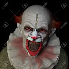 halloween background eyes scary clown glaring at you with red eyes isolated on a black
