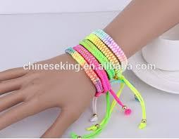 diy braided bracelet with beads images Rose flower bead wax cord braided bracelet hand woven flower bead jpg