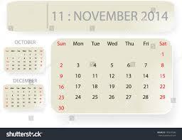 month november 2014 calendar template background stock vector