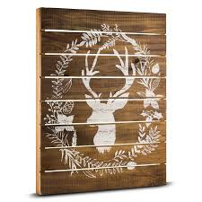 rustic wood wall decor floral deer rustic wood wall country farmhouse