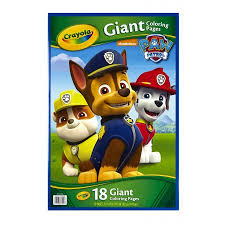 crayola giant coloring pages nickelodeon paw patrol walmart