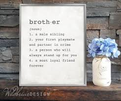 despedida invitation printable wall art brother dictionary definition boys room