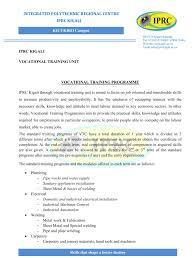 iprc kigali vocational training unit