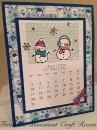 from the basement craft room calendar cards