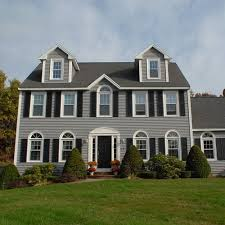 colonial style homes my favourite i u0027d love it with a red