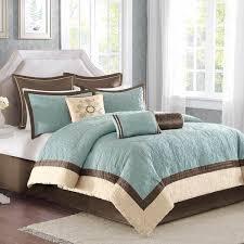 Duvet Covers Brown And Blue Shop Madison Park Juliana Blue U0026 Brown Comforter Sets The Home