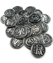 Silver Monogram Necklace Custom Order Silver Wax Seal Pendant Ttereve