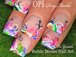 opi neon polish diy princess drag marble nail art design youtube