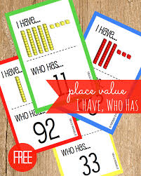 printable math games on place value free place value i have who has place value games place values