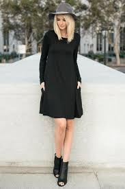 black shift dress buy date sleeve shift dress in black at route 32 for
