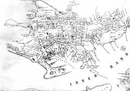 Boston Harbor Map by Fitz Henry Lane Historical Materials