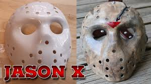 Jason Mask Painting And Weathering A Jason X Friday The 13th Hockey Mask