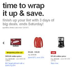 black friday time at target target last minute christmas sale 2011 target 3 day christmas sales