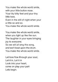 Light In Your Eyes Lyrics You Make The Whole World Smile Lyrics