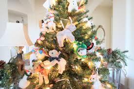peonies and orange blossoms animal themed christmas tree