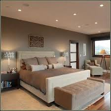 two tone bedroom wall color using brown and white themes added