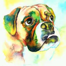 boxer dog art dog art christy studios