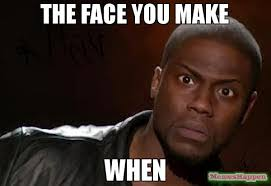 the face you make when meme kevin hart the hell 57039