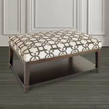 Square Ottomans With Storage by Ottoman With Shelf Custom Fabric Bassett Home Furnishings