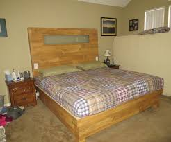 Bed Headboard Lights King Size Wood Flooring Platform Bed And Headboard With Built In