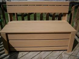 Patio Furniture Storage Bench Garden Storage Bench Plans Home Outdoor Decoration