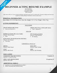 Movie Theatre Resume Sample Acting Resume How To Format An Acting Resume Resume