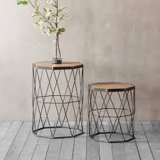 side table set of 2 marshal side table set of 2 side table homesdirect365