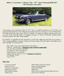 1965 ford mustang convertible or 20 000 cash