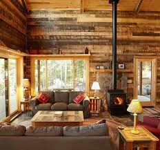 cabin living room decor home design