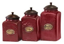 rustic kitchen canister sets set of 3 rustic lidded ceramic kitchen canisters