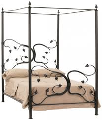Black Wrought Iron Bed Frame Bedroom Looking Furniture For Bedroom Decoration With Brown
