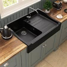 evier de cuisine à poser évier timbre d office à poser 1 bac tamarin en granit noir pour