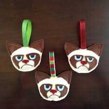 mto handstitched felt cat ornament by mydisgustedcats