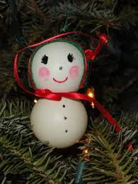 ping pong snowmen ornaments crafts