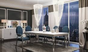 a u0026x baccarat transitional dining room set in white crocodile get