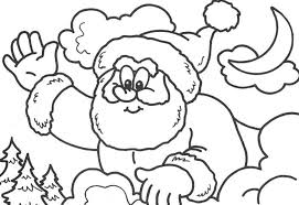 santa coloring pages kids printable christmas